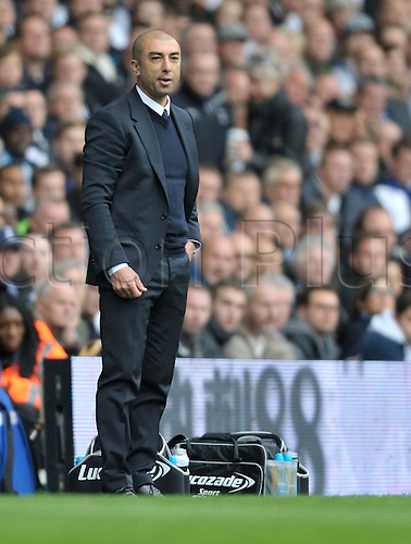 20.10.2012 London, England. Chelsea Manager Roberto Di-Matteo during the Premier League game between Tottenham Hotspur and Chelsea from White Hart Lane.