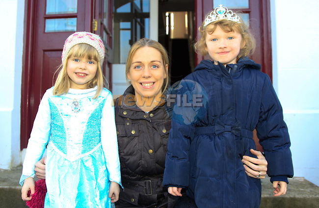 Emily Byrne, Mary Byrne &amp; Molly Johnston at the Dunleer Film Club putting on 'Frozen: A Sing Along Version' in Market House Dunleer on Friday 24th January 2015.<br /> Picture:  Thos Caffrey / www.newsfile.ie