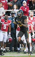 NWA Democrat-Gazette/CHARLIE KAIJO Missouri Tigers wide receiver J'Mon Moore (6) completes a catch in the second half during a football game on Friday, November 24, 2017 at Razorback Stadium in Fayetteville.