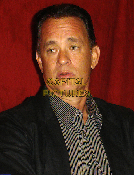 "TOM HANKS.Photocall for ""John Adams"", Four Seasons, Wetherly Room, Los Angeles, California, USA..July 18th, 2008.headshot portrait mouth open.CAP/AW.©Anita Weber/Capital Pictures."