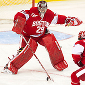 Matt O'Connor (BU - 29) - The Boston College Eagles defeated the visiting Boston University Terriers 5-2 on Saturday, December 1, 2012, at Kelley Rink in Conte Forum in Chestnut Hill, Massachusetts.