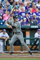 Vanderbilt Commodores outfielder Bryan Reynolds (20) at bat during the NCAA College baseball World Series against the TCU Horned Frogs on June 16, 2015 at TD Ameritrade Park in Omaha, Nebraska. Vanderbilt defeated TCU 1-0. (Andrew Woolley/Four Seam Images)