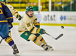 29 December 2013:  University of Vermont Catamount Forward Pete Massar, a Senior from Williston, VT, in second period action against the Canisius College Golden Griffins at Gutterson Fieldhouse in Burlington, Vermont. The Catamounts defeated the Golden Griffins 6-2 to capture the 2013 Sheraton/TD Bank Catamount Cup NCAA Hockey Tournament for the second straight year. Mandatory Credit: Ed Wolfstein Photo *** RAW (NEF) Image File Available ***