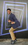 "Johnny Brantley during hi Broadway debut in ""Beetlejuice"" photo shoot at the Winter Garden Theatre on April 22, 2019 in New York City."