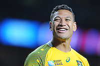 Israel Folau of Australia during Match 35 of the Rugby World Cup 2015 between Australia and Wales - 10/10/2015 - Twickenham Stadium, London<br /> Mandatory Credit: Rob Munro/Stewart Communications