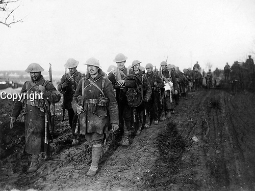 With the Canadians on the western front<br /> Description<br /> <br /> Canadian troops returning from the trenches