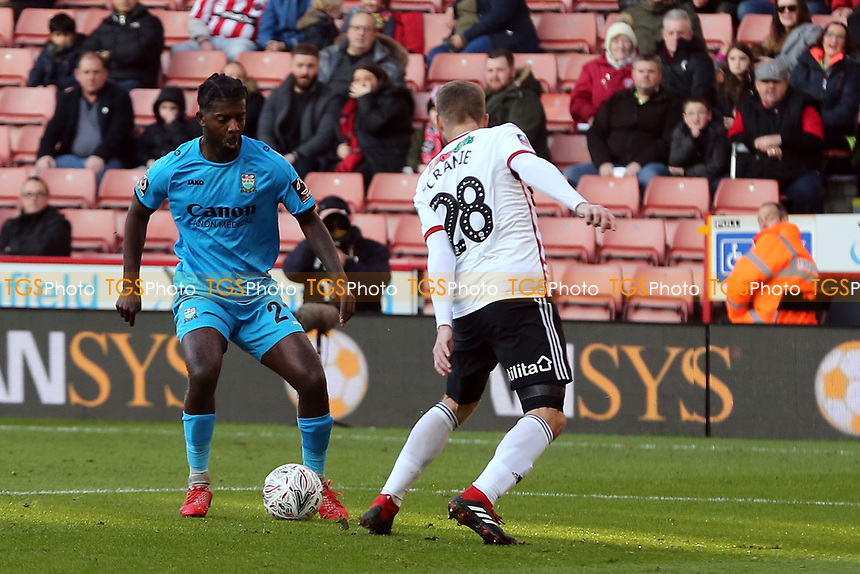 Medy Elito of Barnet and Martin Cranie of Sheffield United during Sheffield United vs Barnet, Emirates FA Cup Football at Bramall Lane on 6th January 2019