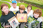 ART ATTACK: Some of the artists who are to exhibit their work at Halla Le Che?ile in Brandon this weekend, l-r: Mags Millar (Firies), Seamus O'Donnell (Camp), Carmel O'Shea (Aughacashla), Deirdre Lynch (Brandon) and Mary Walsh (Liscarney).   Copyright Kerry's Eye 2008