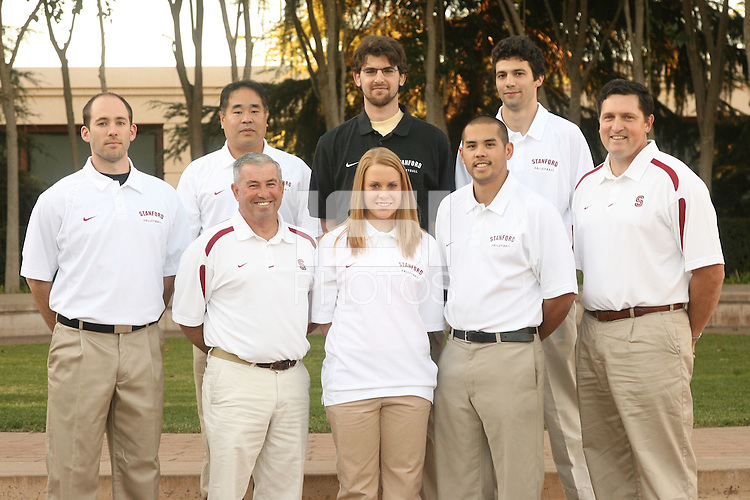 30 November 2007: Top row: Ken Shibuya, Joe Kay, Andy Price. Bottom row: Dan Ammon, Al Roderigues, Fontaine Foxworth, Duke Meek, and John Kosty on picture day in Stanford, CA.