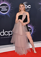 LOS ANGELES, USA. November 25, 2019: Meg Donnelly at the 2019 American Music Awards at the Microsoft Theatre LA Live.<br /> Picture: Paul Smith/Featureflash