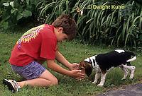 SH24-034z Beagle Puppy with child, PRA