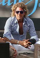 LAPO ELKANN IN VISITA AL VILLAGE.Roma 02/08/2009.13th Fina swimming World Championship.Village Roma 2009.Photo Pool Roma2009.com/Insidefoto/Sea&Sea.