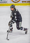 16 November 2013: Providence College Friar Defenseman John Gilmour, a Sophomore from Montreal, Quebec, in third period action against the University of Vermont Catamounts at Gutterson Fieldhouse in Burlington, Vermont. The Friars shut out the Catamounts to sweep the 2-game weekend Hockey East Series. Mandatory Credit: Ed Wolfstein Photo *** RAW (NEF) Image File Available ***