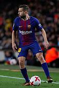 11th January 2018, Camp Nou, Barcelona, Spain; Copa del Rey football, round of 16, 2nd leg, Barcelona versus Celta Vigo; Jordi Alba of FC Barcelona controls the ball