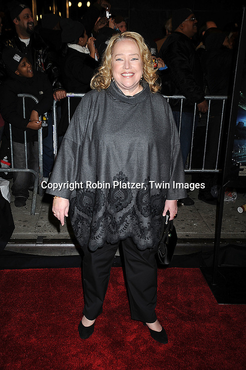 "actress Kathy Bates..at The New York Premiere of ""The Day the Earth Stood Still"" on December 9, 2008 at the AMC Loews Lincoln Square. Keanu Reeves, Jennifer Connelly, Kathy Bates, ..Jaden Smith and Jon Hamm are in the movie....Robin Platzer, Twin Images"