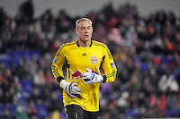 New York Red Bulls goalkeeper Greg Sutton (24). The New York Red Bulls defeated the Seattle Sounders 1-0 during a Major League Soccer (MLS) match at Red Bull Arena in Harrison, NJ, on March 19, 2011.