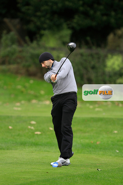 Enda McLoughlin (Wicklow G.C) on the 3rd tee during Round 2 of The Cassidy Golf 103rd Irish PGA Championship in Roganstown Golf Club on Friday 11th October 2013.<br /> Picture:  Thos Caffrey / www.golffile.ie