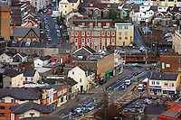 Pictured: YMCA general view of Swansea as seen from the Penthouse restaurant<br />