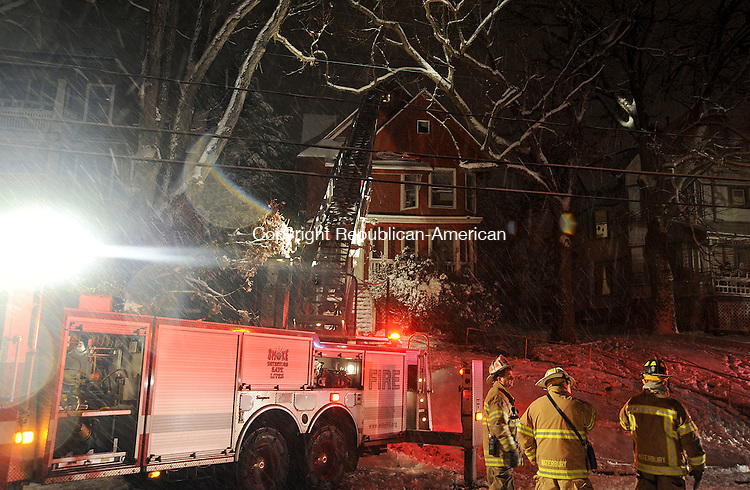 WATERBURY, CT,  November 7 2012-  110712JS03-Waterbury Fire Department was called out to a house fire Wednesday evening to a home at 156 Waterville Street in Waterbury.  .Jim Shannon Republican-American