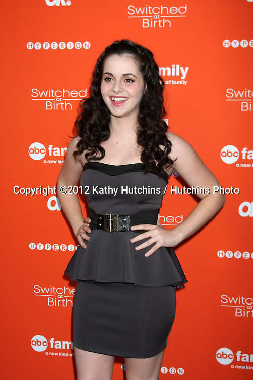 "LOS ANGELES - SEP 13:  Vanessa Marano arrives at the """"Switched at Birth"" Fall Premiere & Book Launch Party at The Redbury Hotel on September 13, 2012 in Los Angeles, CA"