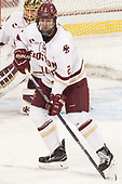 Scott Savage (BC - 2) - The visiting Merrimack College Warriors defeated the Boston College Eagles 6 - 3 (EN) on Friday, February 10, 2017, at Kelley Rink in Conte Forum in Chestnut Hill, Massachusetts.