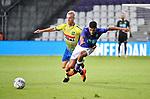 2018-08-10 / Voetbal / Seizoen 2018-2019 / KFCO Beerschot-Wilrijk - KVC Westerlo / Gilles De Waele (l. Wes) met Tarik Tissoudali<br /> <br /> ,Foto: Mpics