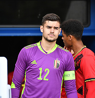 Belgian Nick Shinton pictured during a friendly soccer game between the national teams Under19 Youth teams of Belgium and Germany on tuesday 8 th of September 2020  in Genk , Belgium . PHOTO SPORTPIX.BE | SPP | DAVID CATRY