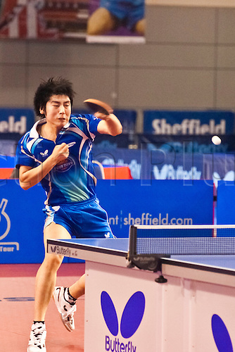 29.01.2011 English Open ITTF Pro Tour Table Tennis from the EIS in Sheffield. Hyun Deok Seo of Korea