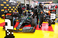 11th July 2020; Styria, Austria; FIA Formula One World Championship 2020, Grand Prix of Styria qualifying sessions;  44 Lewis Hamilton GBR, Mercedes-AMG Petronas Formula One Team takes pole for the race