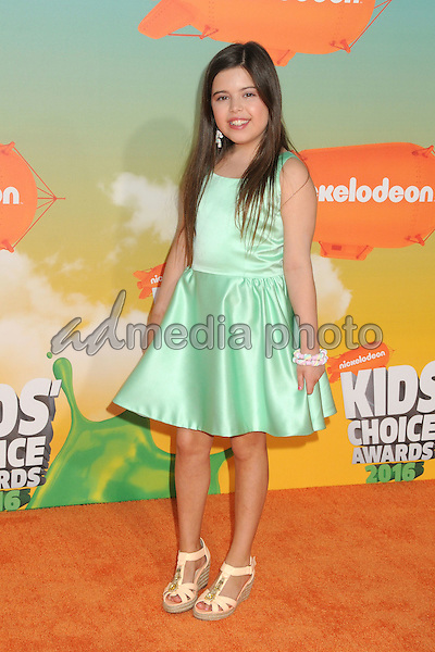 12 March 2016 - Inglewood, California - Sophia Grace Brownlee. 2016 Nickelodeon Kids' Choice Awards held at The Forum. Photo Credit: Byron Purvis/AdMedia
