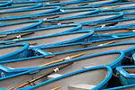 Blue row boats, Japan