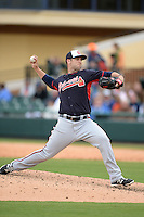 Atlanta Braves pitcher Cody Martin (79) during a spring training game against the Detroit Tigers on February 27, 2014 at Joker Marchant Stadium in Lakeland, Florida.  Detroit defeated Atlanta 5-2.  (Mike Janes/Four Seam Images)