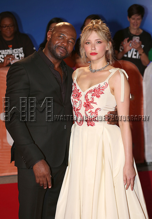 director Antoine Fuqua and Haley Bennett attends 'The Magnificent Seven' Red Carpet Gala Opening Night of the 2016 Toronto International Film Festival at TIFF Bell Lightbox on September 8, 2016 in Toronto, Canada.