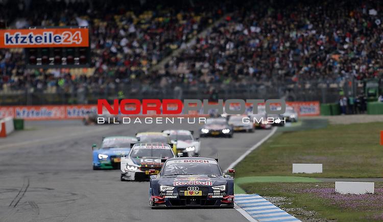 DTM 2015, 01.Lauf Hockenheimring, 01.05. - 03.05.15 <br /> Mattias Ekstr&ouml;m (SWE#5) Audi Sport Team Abt Sportsline Audi RS 5 DTM , Marco Wittmann (DEU#1) BMW Team RMG BMW M4 DTM , Edoardo Mortara (ITA#48) Audi Sport Team Abt Audi RS 5 DTM <br /> <br /> <br /> Foto &copy; nordphoto /  Bratic