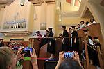 Graduation ceremony, Goldsmiths College, University of London, England, UK