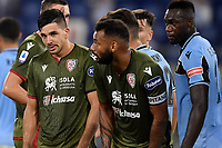 Giovanni Simeone and Joao Pedro of Cagliari during the Serie A football match between SS Lazio and Cagliari Calcio at Olimpico stadium in Rome ( Italy ), July 23th, 2020. Play resumes behind closed doors following the outbreak of the coronavirus disease. Photo Andrea Staccioli / Insidefoto