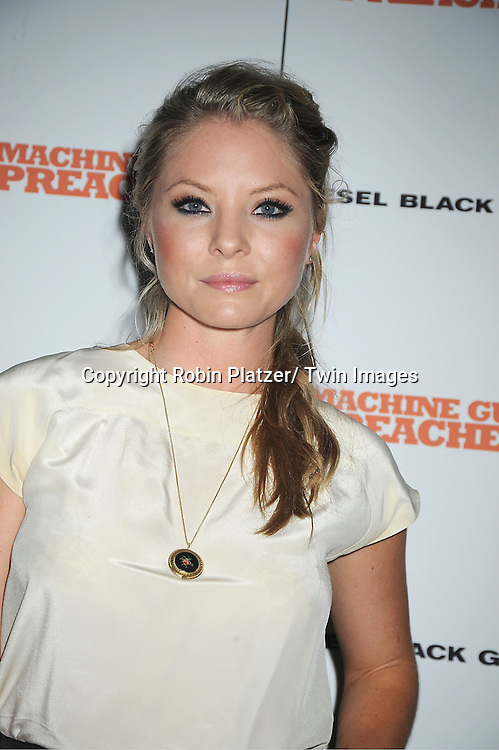 """actress Kaitlin Doubleday attending a special screening of """"Machine Gun Preacher"""" at the Museum of Modern Art on September 13, 2011 in New York City. The movie stars Gerard Butler and Michelle Monaghan..."""