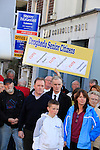 A large gathering  to protest outside Ged Nash TD office at Connolly hall in palace street.<br /> Picture: www.newsfile.ie