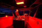 Capitaine aux commandes de nuit. Croisière à bord du NordNorge. Péninsule Antarctique