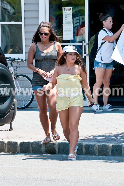 **ALL ROUND PICTURES FROM SOLARPIX.COM**                                             **SYNDICATION RIGHTS FOR UK, AUSTRALIA, DENMARK, PORTUGAL, S. AFRICA, SPAIN & DUBAI (U.A.E) & ASIA (EXCLUDING JAPAN) ONLY**                                                                                  Caption: Jersey Shore Cast on Location at Ocean Terrace in Seaside Heights, New Jersey, USA. 5 July 2011                                                                              This pic: Sammi Giancola, Deena Cortese                                                                                            JOB REF: 13673 PHZ Santoro      DATE: 05_07_2011                                                          **MUST CREDIT SOLARPIX.COM OR DOUBLE FEE WILL BE CHARGED**                                                                      **MUST AGREE FEE BEFORE ONLINE USAGE**                               **CALL US ON: +34 952 811 768 or LOW RATE FROM UK 0844 617 7637**