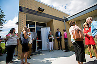 NWA Democrat-Gazette/JASON IVESTER <br /> Visitors tour The Wellness Center at Elmdale Elementary on Thursday, Aug. 13, 2015, in Springdale. Community Clinic held an open house for the new school-based health center at the Springdale school during National Community Chealth Center Week.