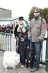 Layla and Sonya Nimhurchu and Billy Sellick at the 2011 St.Patrick's Day Parade in Drogheda...(Photo credit should read Jenny Matthews/www.newsfile.ie)....This Picture has been sent you under the conditions enclosed by:.Newsfile Ltd..The Studio,.Millmount Abbey,.Drogheda,.Co Meath..Ireland..Tel: +353(0)41-9871240.Fax: +353(0)41-9871260.GSM: +353(0)86-2500958.email: pictures@newsfile.ie.www.newsfile.ie.
