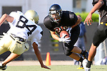 Beverly Hills, CA 09/23/11 - unknown Beverly Hills player(s) and Michael Joncich (Peninsula #84) in action during the Peninsula-Beverly Hills frosh football game at Beverly Hills High School.