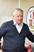 Dermot Drummy Manager of Crawley Town  during the Sky Bet League 2 match between Crawley Town and Accrington Stanley at Broadfield Stadium, Crawley, England on 22 October 2016. Photo by Edward Thomas / PRiME Media Images.
