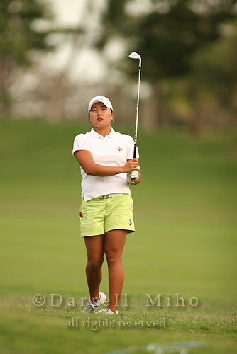 Feb 24, 2006; Kapolei, HI, USA; Seon Hwa Lee hits an approach shot during the 2nd round of the Fields Open at Ko Olina Resort. ..Mandatory Photo Credit: Darrell Miho.Copyright © 2006 Darrell Miho .