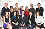 The Company: (L-R back row) Ben Livingston, Mairin Lee, Dan Stevens, Jessica Chastain, Judith Ivey, David Strathairn, Moises Kaufman (L-R front row) Molly Camp, Dee Nelson, Kieran Campion, Caitlin O'Connell and Virginia Kull attending the Meet & Greet the Broadway Cast of 'The Heiress'  at the Empire Hotel in New York City on September 13, 2012