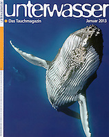 Unterwasser Magazine, January 2013, cover use, Germany