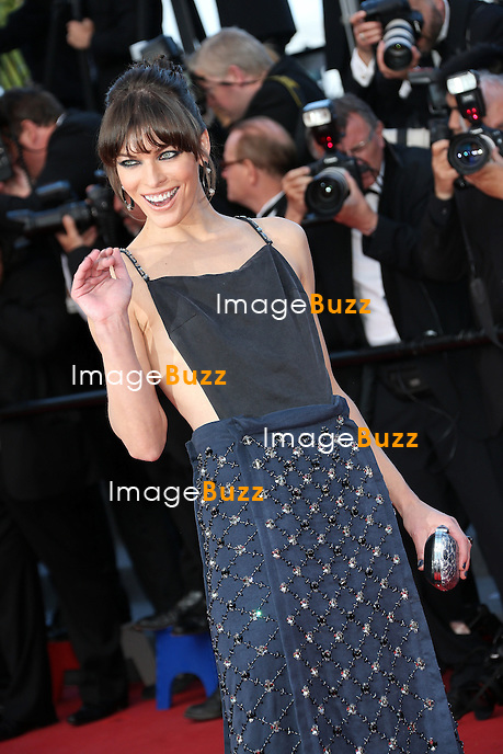 "Milla Jovovich attends the "" Behind The Candelabra' "" premiere during The 66th Annual Cannes Film Festival at The 60th Anniversary Theatre on May 21, 2013 in Cannes, France."