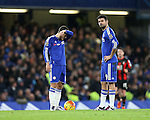 Chelsea's Eden Hazard and Diego Costa look on dejected after Bournemouth's opening goal<br /> <br /> Barclays Premier League - Chelsea v AFC Bournemouth - Stamford Bridge - England - 5th December 2015 - Picture David Klein/Sportimage