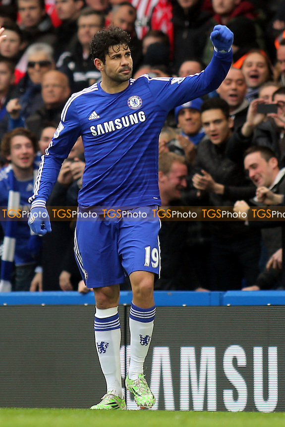 Diego Costa celebrates scoring Chelsea's opening goal - Chelsea vs Southampton - Barclays Premier League Football at Stamford Bridge, London - 15/03/15 - MANDATORY CREDIT: Paul Dennis/TGSPHOTO - Self billing applies where appropriate - contact@tgsphoto.co.uk - NO UNPAID USE